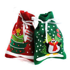 Christmas Holiday Candy Pouch Bags Drawstring Bags Gift Bags Party Gift Favor
