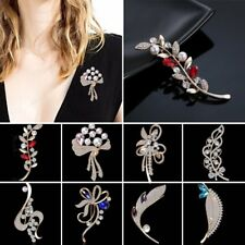 New Womens Jewellery Crystal Rhinestone Pearl Brooch Pin Wedding Bridal Bouquet