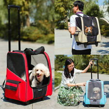 Pet Stroller Dog Puppy Cat Animals Trolley Carrier Travel Backpack Airline Cage
