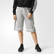 Adidas Originals x Pharrell Williams PW Daisy long Shorts Grey White AO2997