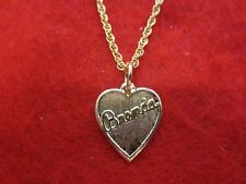 "14 kt GOLD PLATED PLATED  HEART SHAPED BRENDA NAME  & 7 "" TO 30"" ROPE CHAIN"