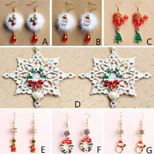 Women Jewelry Christmas Series 1 Pair Earring Earring Crystal Christmas Fashion