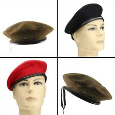 Men Green Black Mix Wool Military Special Force Army French Artist Hat Cap Beret