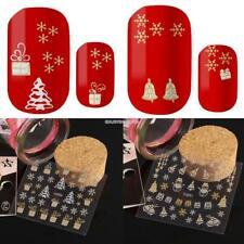 Fashion 1 Sheet Nail Art Christmas Pattern 3D Nail Art Stickers Decals EN24H