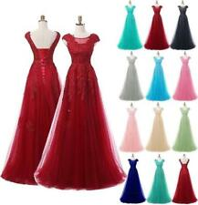 Bride Wedding Party Bridesmaid Evening Ball Growns Long Formal Dress In Stock
