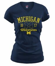 NCAA Michigan Wolverines Junior Ladies Short Sleeves College Logo Tee Shirt NWT.