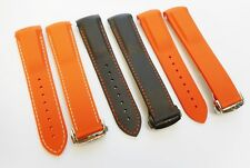 22mm Curved Rubber/Silicone Diver Watch Band Strap Fits Omega 45mm Seamaster