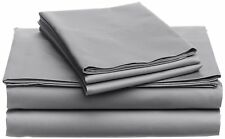 Australian Bedding Collection 1000 Thread Count 100% Cotton Light Grey Solid