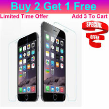 Buy 2 Get 1 Free Tempered Glass Screen Protectors For Apple iPhone 4 5 6 7 Plus