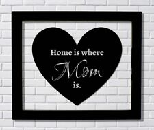 Mother's Day Sign - Home is where Mom is - Float Frame