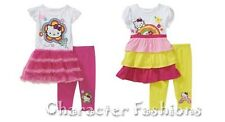 HELLO KITTY 12 18 24 Months 2T 3T 4T 5T Girls SHIRT TUNIC LEGGINGS 2-Piece