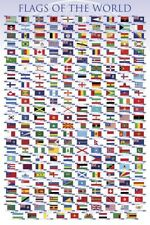 New Flags of the World Educational Chart Poster