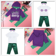 3Pcs Mermaid Baby Girls Tops+Pants+Headband Outfits Costume Kids Toddler Party