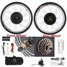 """26"""" Front Rear 36/48V Electric Bicycle Wheel Conversion SET Cycling Motor SK"""