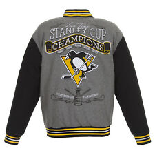 2017 Stanley Cup Champions Pittsburgh Penguins JH Design Wool Reversible Jacket