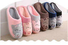 Slippers Home Cartoon Winter Women Indoor Plush Soft Shoes Warm Floor Men Cute
