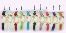 HelloKitty Pave Rhinestone Leather Bracelet Chains Multi Colors adjustable