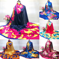 Women Scarf Shawl Printing Hijab Scarves Long Wrap Shawl Silk-Satin Square Scarf
