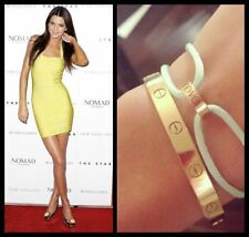 GORGEOUS LOVE BRACELETS BANGLES 18CT PREMIUM PLATED MADE IN UK LIKE CARTIER !