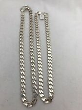 Sterling Silver .925 Heavy 10.5mm Wide Curb Link Chain Necklace