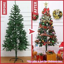 Christmas Tree Xmas Tree Metal Construction Green White Decoration Multi-height