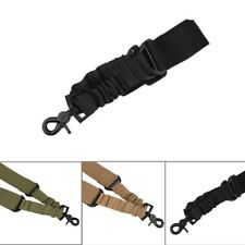 Tactical One Point Quick Release Adjustable Bungee Rifle Gun Swivels Sling Strap