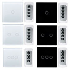 Panel Smart Touch Wall Light Lamp Switch 1/2/3 Gang Way Remote Load Power 3-300W