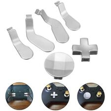Silver Metal Buttons Paddles Mod Replacement Kit for Xbox one Elite Controller