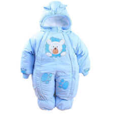Winter Suit Romper Baby Newborn Infant Fleece Clothes Cotton-padded Overalls New