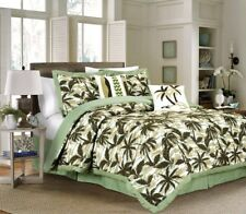 6-piece Kona Tropical Palm Tree Surfboard Camouflage Bedding Comforter Set Green