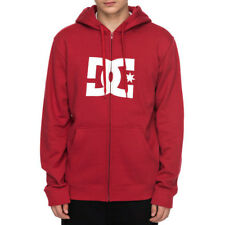 "DC Shoes ""Star"" Zip Up Hoodie (Rio Red/White) Men's Classic Fleece Jacket"