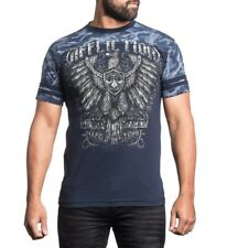 Affliction War Eagle Mens t Shirt - A13824  - Brand New Blue Graphic Mens Tee