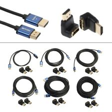 Lot HDMI V1.4 Male To Male 1080P Cable + HDMI Adapter For Laptop HDTV Projector