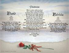 Personalized Love Poem With Name Meaning Anniversary Birthday Christmas Gift