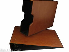 TAN GLEN 2 RING PADDED COLLECTORS BINDER / ALBUM WITH OPTIONAL SLIPCASE