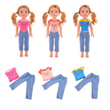 Handmade Lovely Casual Clothes for 14 inch American Girl Wellie Wishers Doll