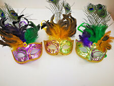 Venetian Mask Sparkles Peacock Feathers Halloween costume Party M6077