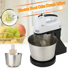7 Speed Electric Beater Dough Cakes Bread Egg Stand Mixer Hand Blender & Bowl