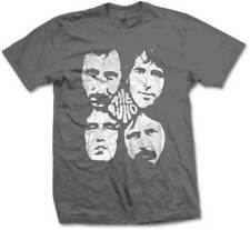 The Who Distressed Four Faces Music English Rock Band Adult Mens T Tee Shirt
