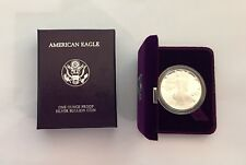 1987-S 1 oz Proof Silver American Eagle w/ ORG BOX BETTER DATE! .999 Coin NR