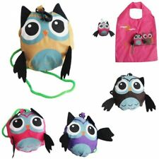 Cute Owl Waterproof Folding Shopping Bag Eco Foldable Reusable Shoulder Handbag