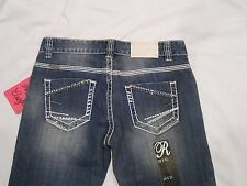 Rock & Roll Cowgirl NWT Juniors Jeans Bootcut Low Rise W0-8516 Rodeo Bling