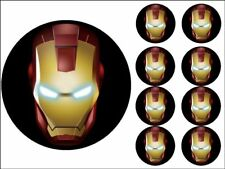 "MARVEL CAKE TOPPERS 7"" ROUND + 2"" CUPCAKE TOPPERS X8 EDIBLE PHOTO ICING ITEM708"