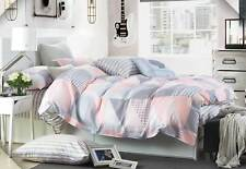 Luxton Pastel Rio 100% pure Cotton quilt cover set / grey pink doona cover set