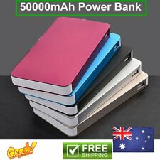 50000mAh External Power Bank Dual USB Portable Battery Charger For Phone lot IS