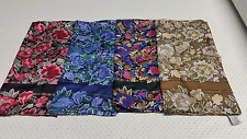 Large Square 100 %Pure Silk Floral head Scarf & Neck Wrap Hijab Blue, Red, mult