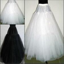 Hot 3 Layers Hoop less White/Black Bridal Petticoat Wedding Underskirt Crinoline