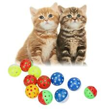 Pet Cat Kitten Play Balls With Jingle Bell Pounce Chase Rattle Toys 3 Styles Toy