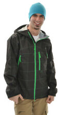 Burton Idiom Continuum 2.5L Snowboard Jacket Black Grid Mens