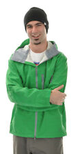 Burton Idiom Continuum 2.5L Snowboard Jacket Green Grid Print Mens